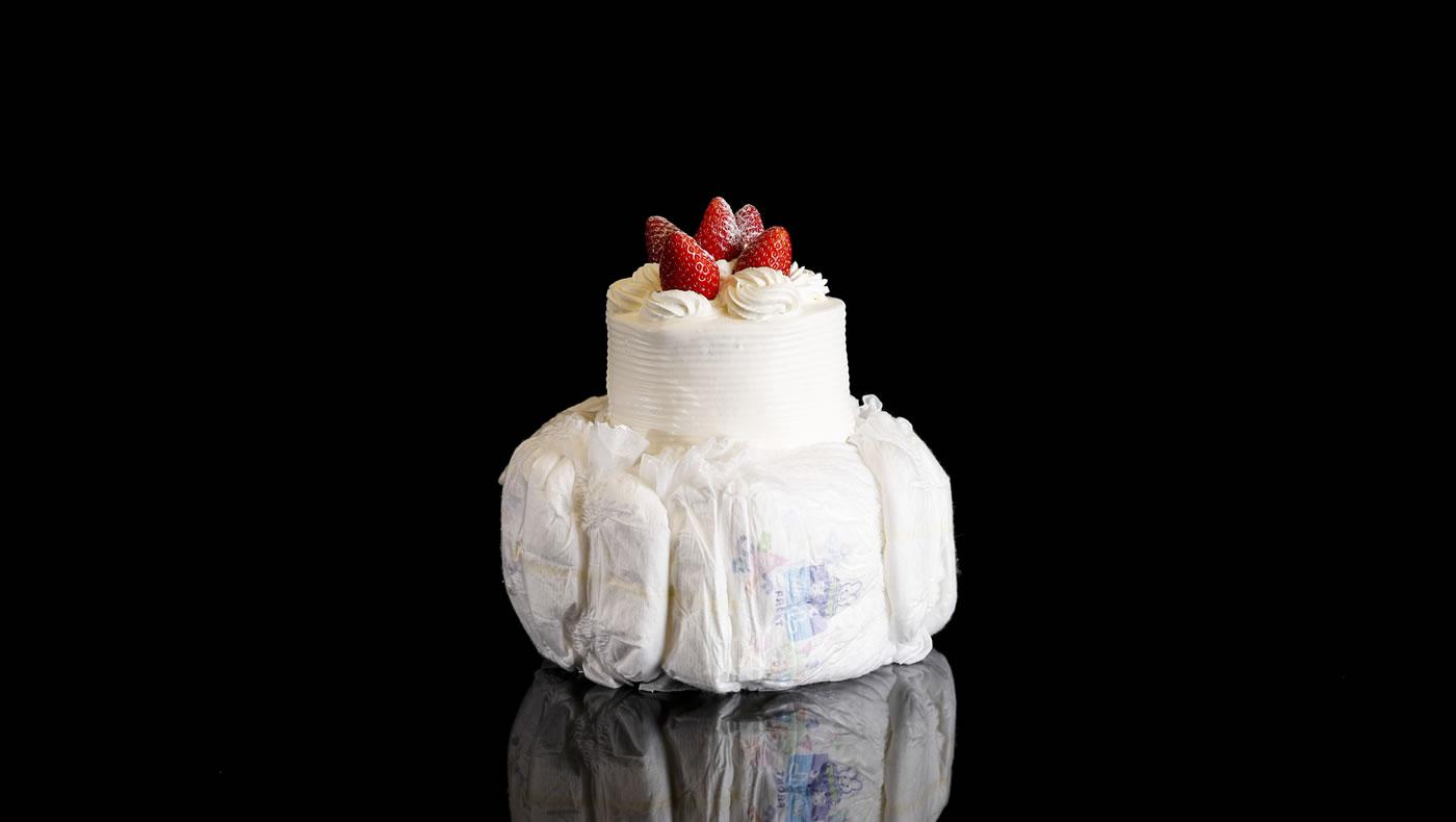 お祝いにも驚喜を。出産祝いにオムツタワー